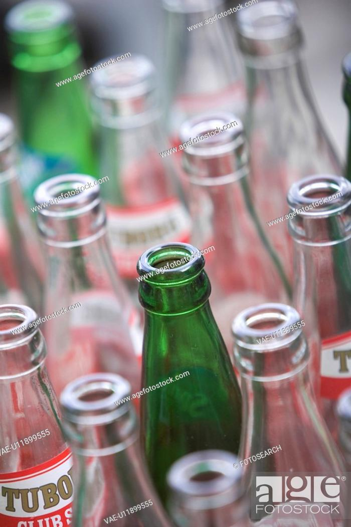 Stock Photo: Bottle, Circle, Close-Up, Full Frame, Glass.