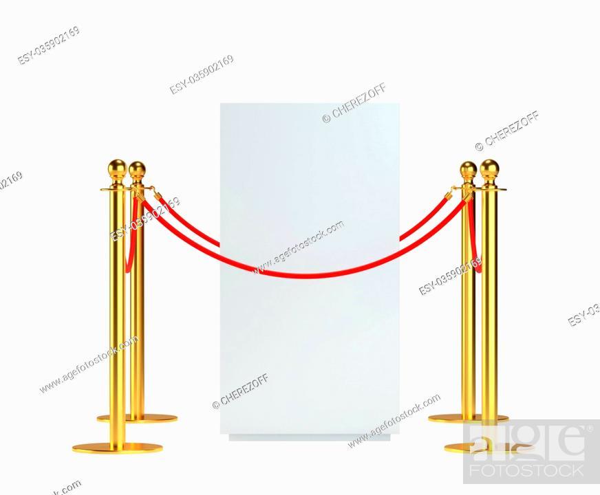 Imagen: Mock-up empty white museum podium.
