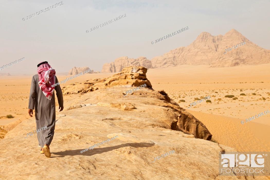 Stock Photo: Wadi Rum, Jordan, Middle East.