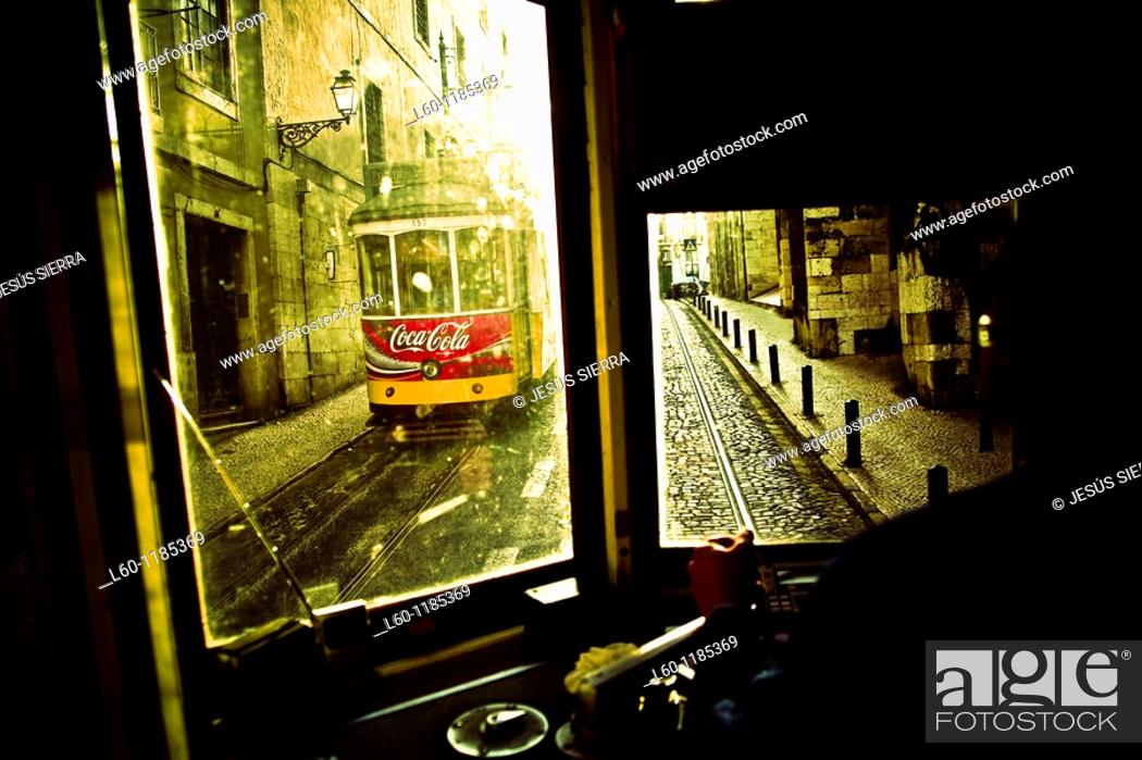Stock Photo: Tram, Lisbon, Portugal.