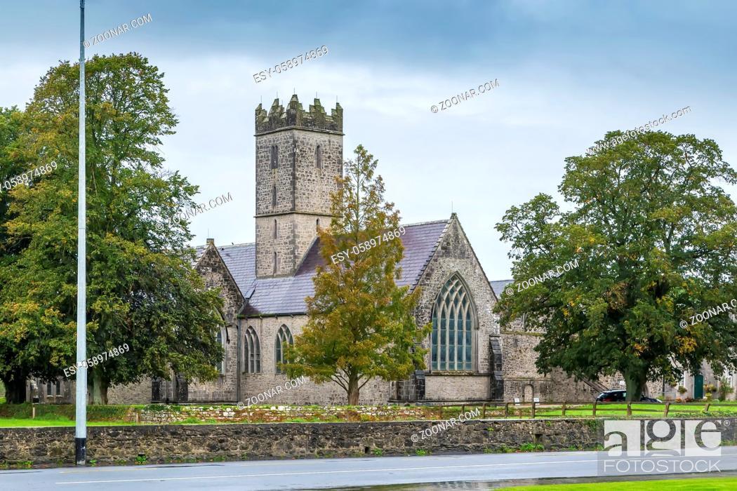 Stock Photo: St. Nicholas Church in Adare, County Limerick, Ireland.