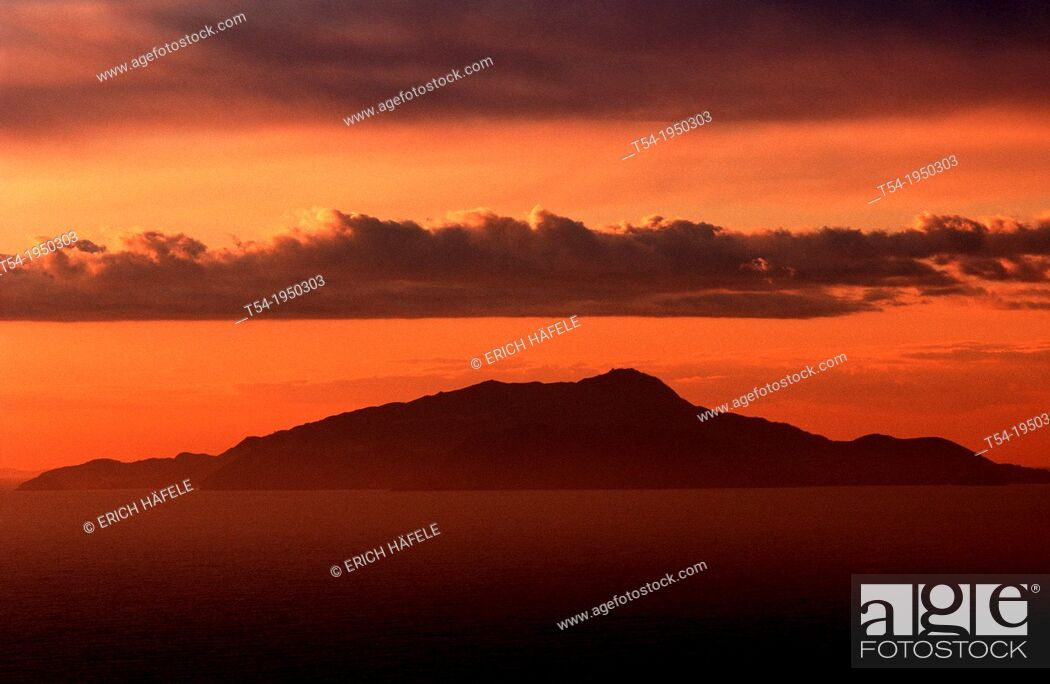 Stock Photo: Sunset over Iscia.