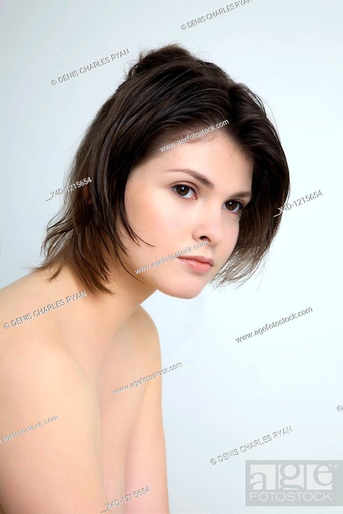 Stock Photo: Studio portrait of woman.