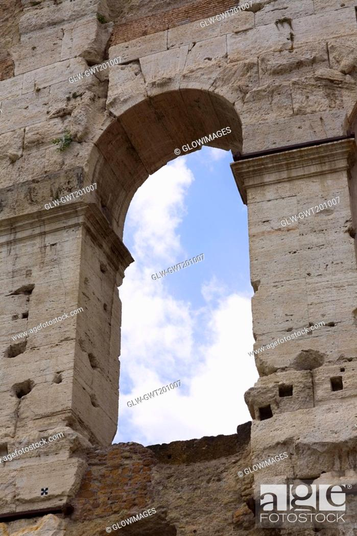 Stock Photo: Low angle view of a triumphal arch, Rome, Italy.