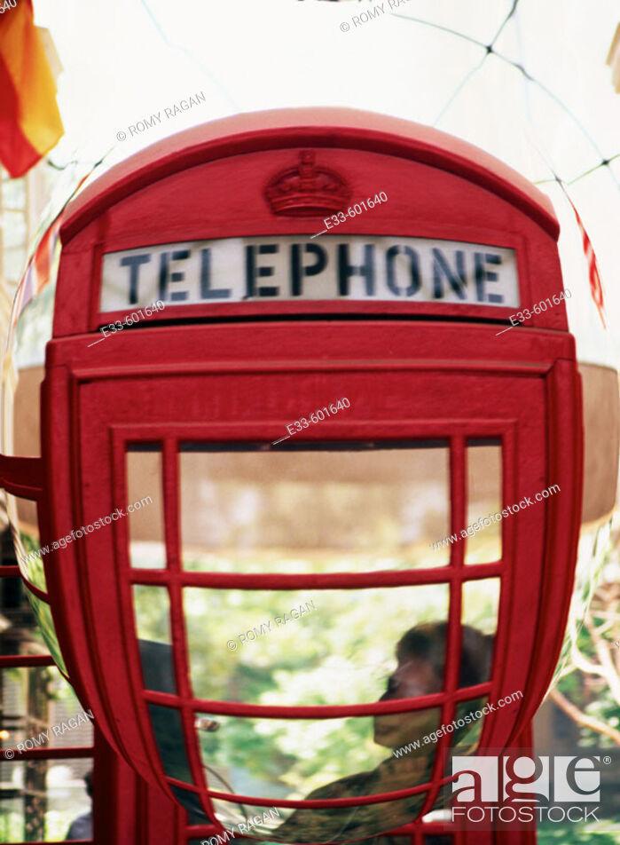 Stock Photo: Telephone booth. London. England.