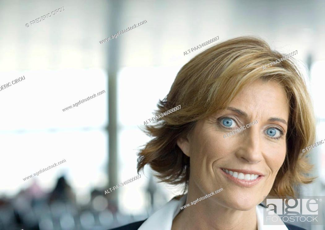 Stock Photo: Airline attendant, portrait.
