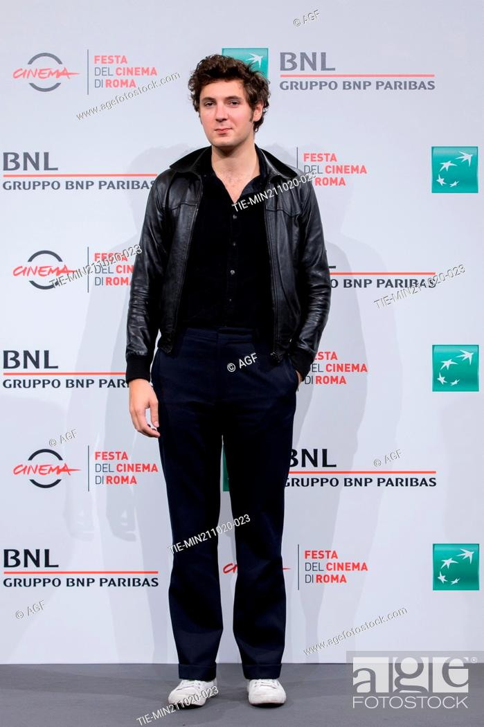 """Stock Photo: Vincent Lacoste attend the photocall of the movie """"""""De Nos Freres Blesses"""""""" during the 15th Rome Film Festival on October 21, 2020 in Rome, Italy."""