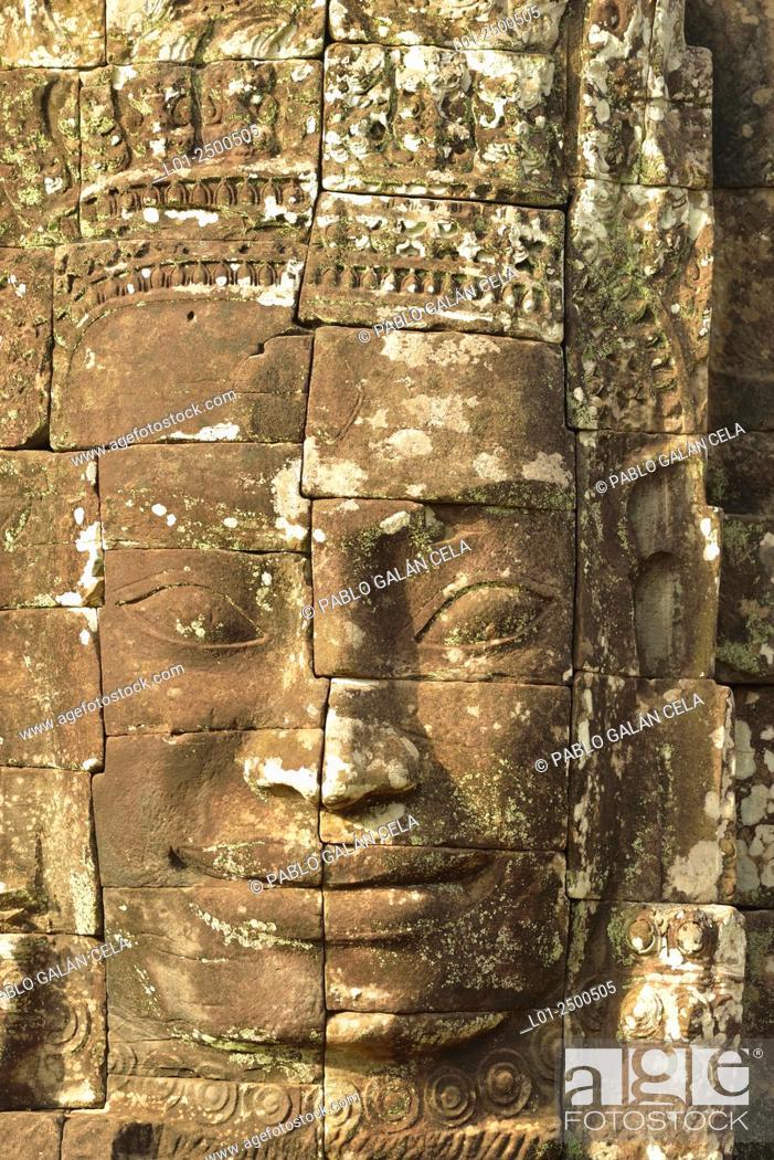 Stock Photo: Bayon temple in Angkor Thom, capital of Angkor Wat complex, Cambodia.