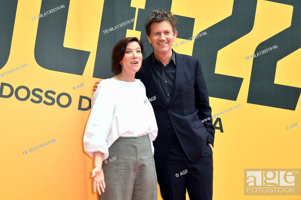 Imagen: Tessa Ferrer, Richard Brown during 'Catch-22' TV show photocall, Rome, Italy - 13 May 2019.