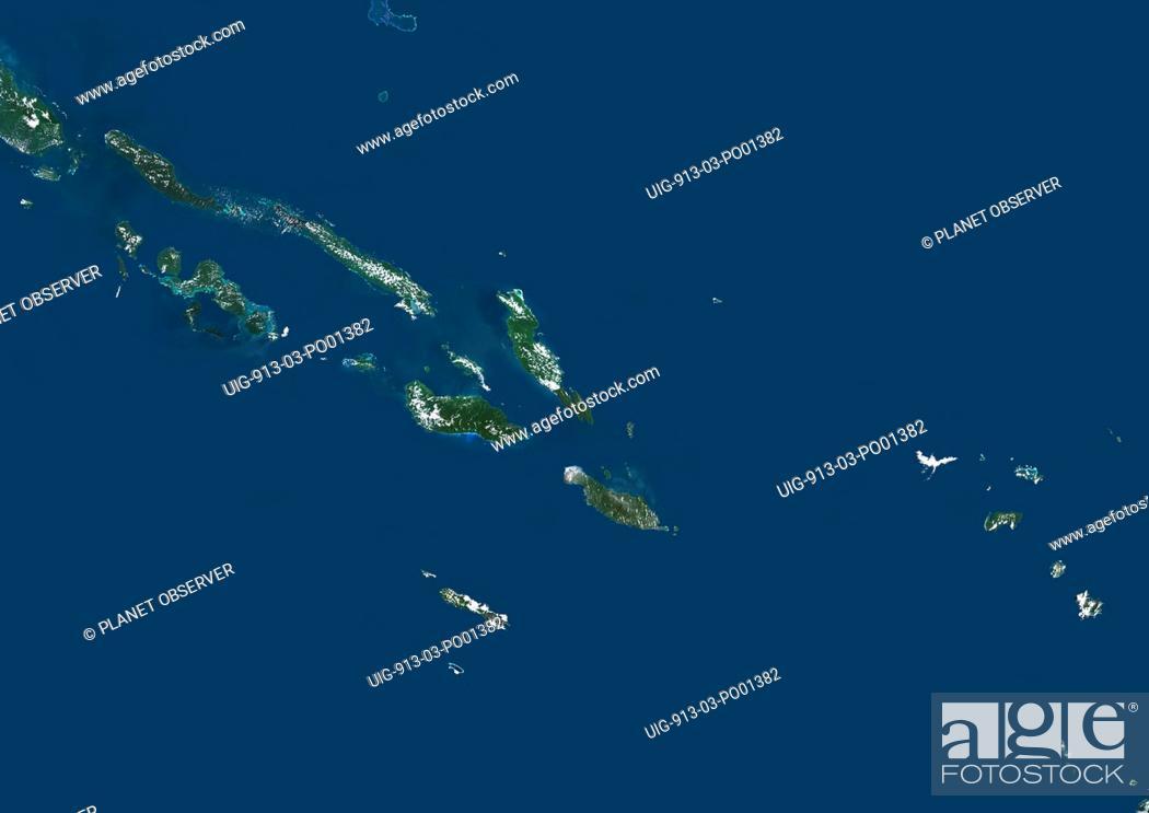 Solomon Islands, True Colour Satellite Image  Solomon