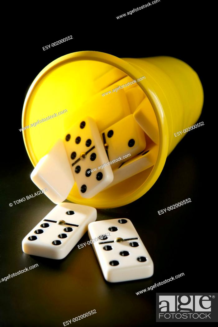Stock Photo: Domino game business metaphor.