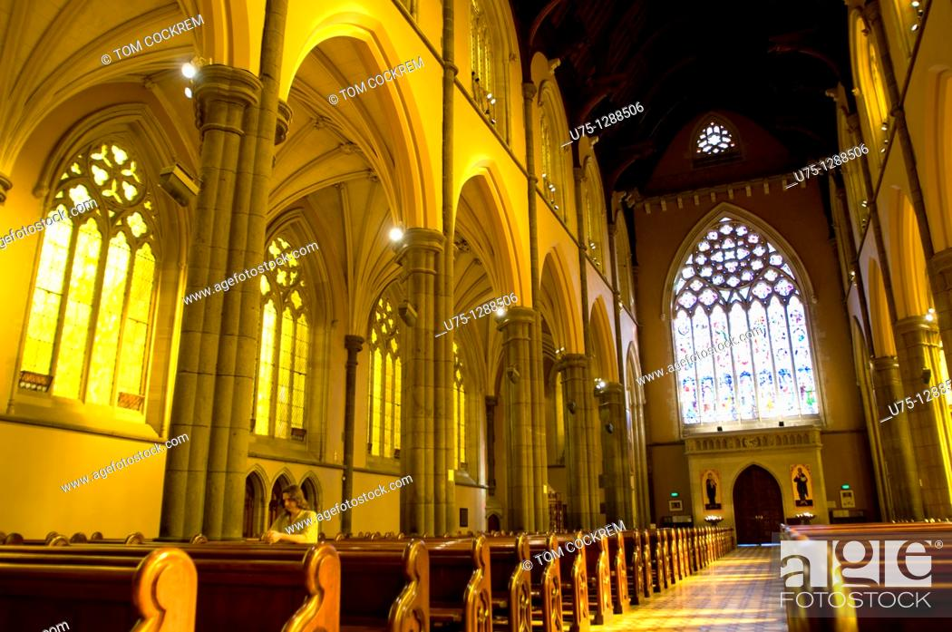 Stock Photo: St  Patrick's Cathedral, East Melbourne, Victoria, Australia.