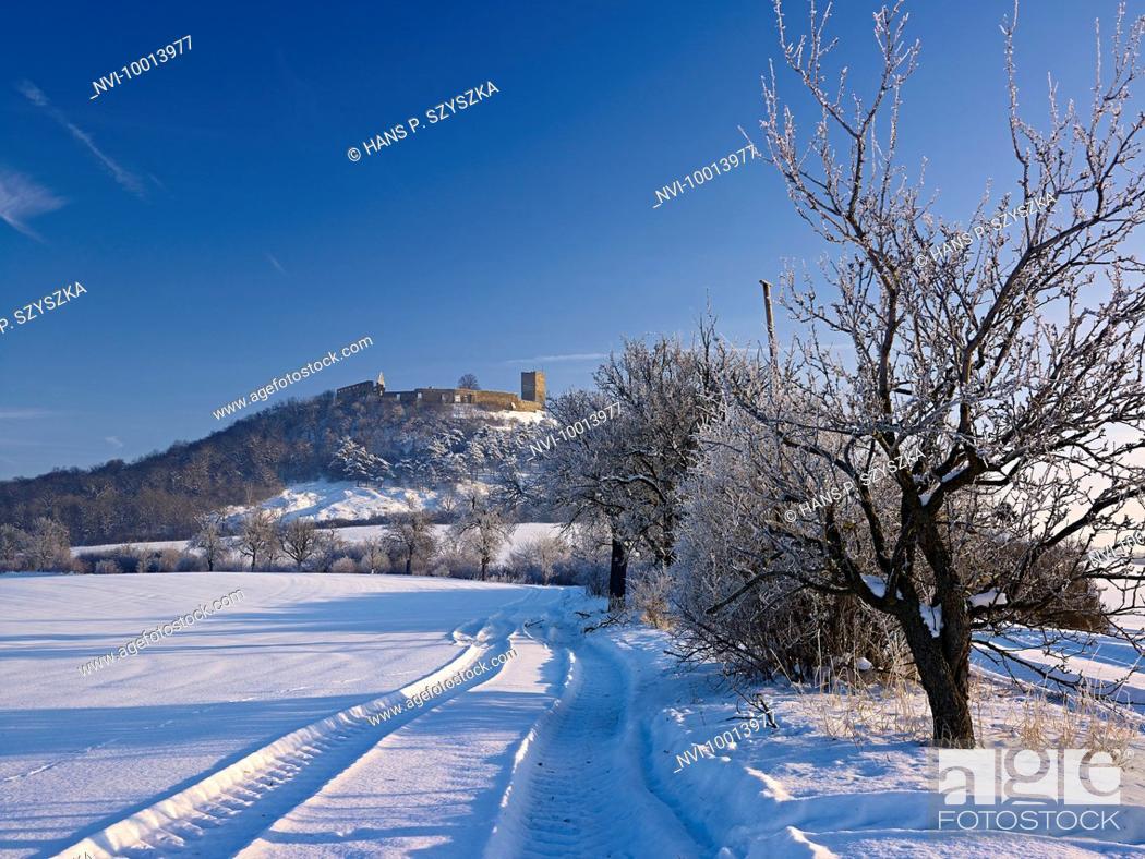 Stock Photo: Castle Gleichen near Muehlberg, Drei Gleichen, Thuringia, Deuschland.
