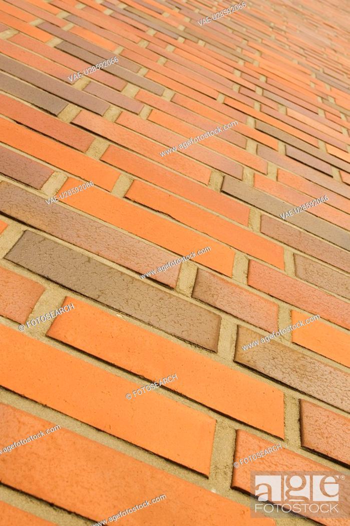Stock Photo: Brick, Brick Wall, Cement, Day, Full Frame.