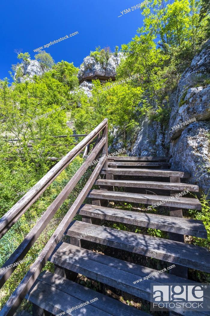 Stock Photo: Roški Slap, Krka National Park, Bogatic, Sibensko-Kninska, Dalmatia, Croatia, Europe.