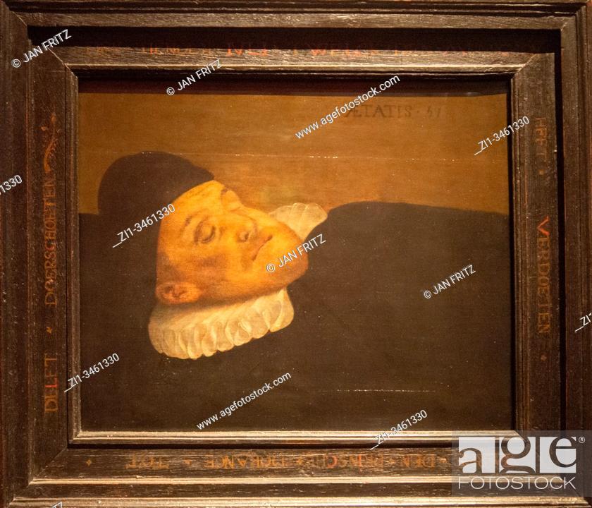 Imagen: 'death portrait of William the Silent', 1584, Christiaan Janszoon van Bieselingen.