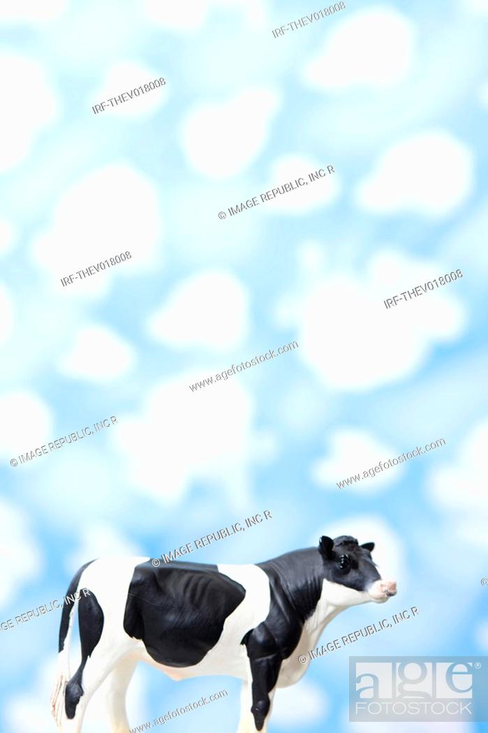Stock Photo: wallpaper and animal shape, cow.