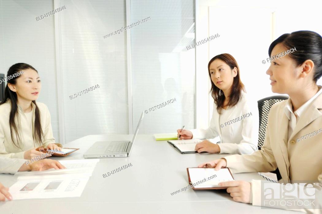 Stock Photo: Meeting scene.