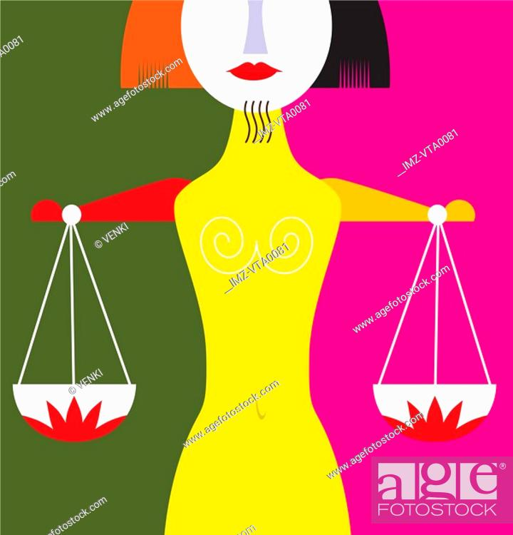 Stock Photo: The scales of Libra.