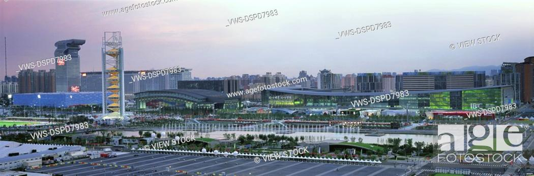 Stock Photo: Central Area Of Beijing Olympic Games,China.