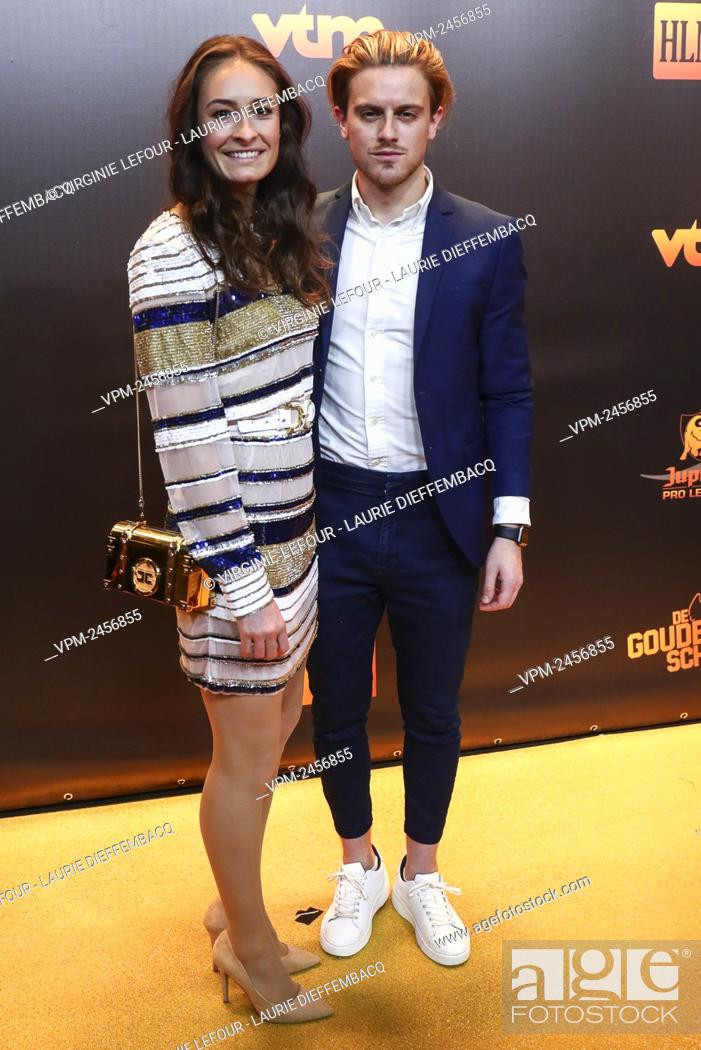 Stock Photo: Belgium's Tessa Wullaert pictured on the red carpet at the arrival for the 66th edition of the 'Golden Shoe' award ceremony, Wednesday 15 January 2020, in Puurs.