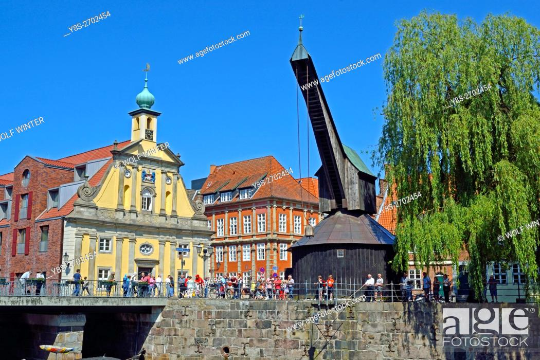Stock Photo: At the old town of Lueneburg, Lower Saxony, northern Germany.