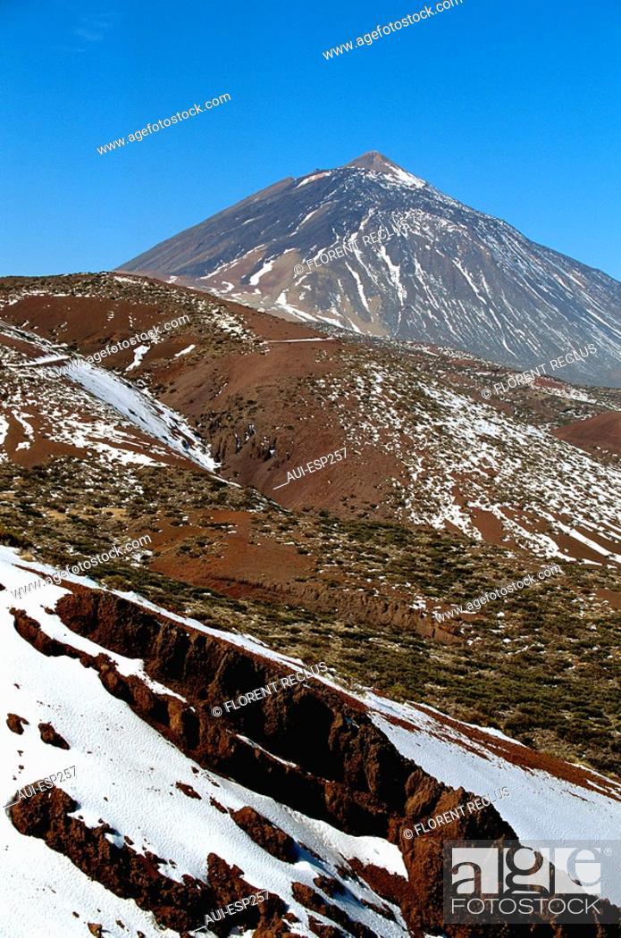 Stock Photo: Spain - Canary Islands - Tenerife - Reido 3718 m.