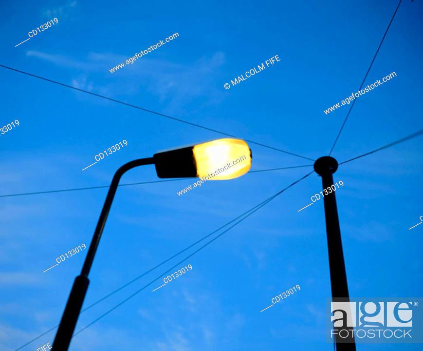 Stock Photo: Street light. Edinburgh. Scotland.