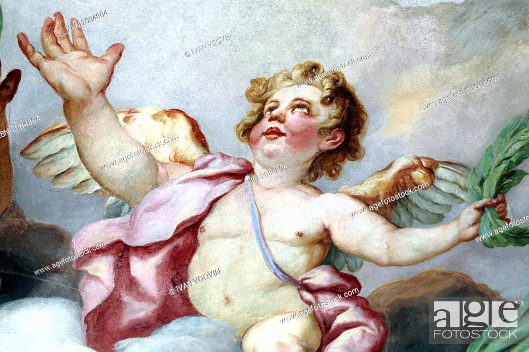 Stock Photo: Baroque mural painting in Karlskirche (St. Charles's Church), Vienna, Austria.
