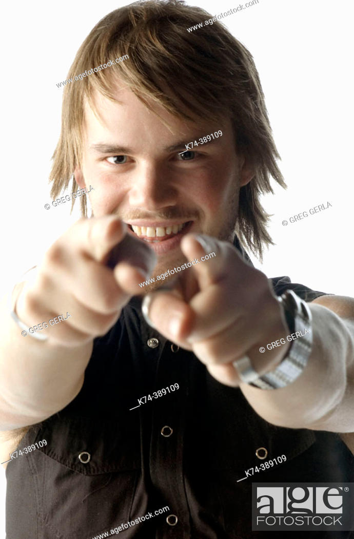 Stock Photo: Young Man Pointing At Viewer.