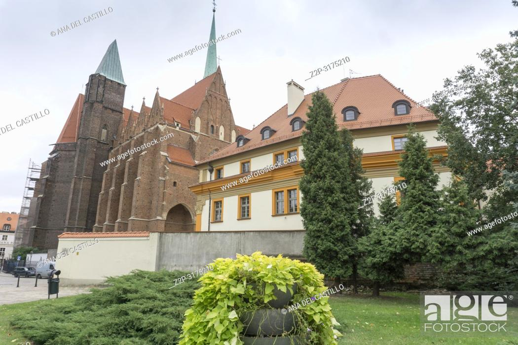 Stock Photo: Holy Cross church in Wroclaw Poland.