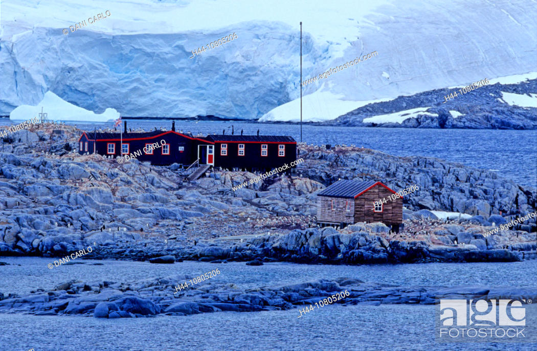 Stock Photo: Antarctic, Antarctic Peninsula, Goudier Island, Antarctic Heritage Trust, Museum, Historic Site, Monument nr. 61, Po.