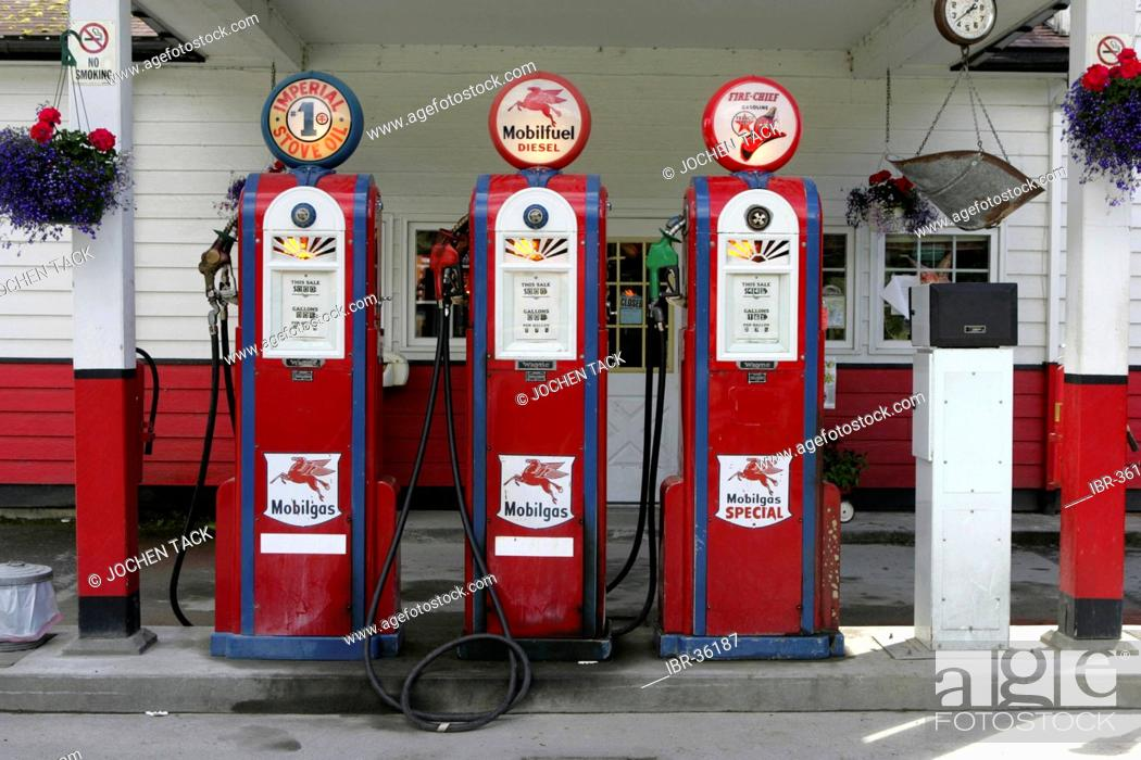 USA, United States of America  Gustavus : Historical Gas