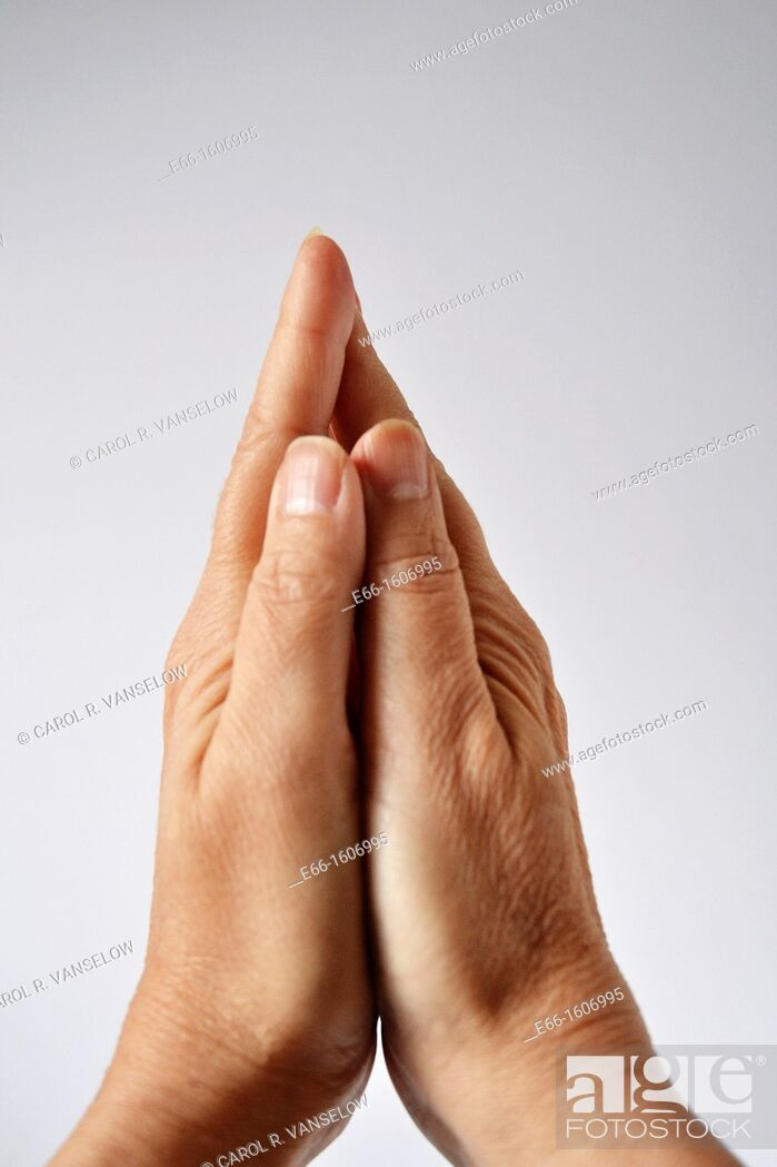 Stock Photo: Praying hands.