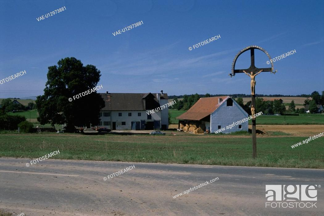 Stock Photo: Cross At The Wayside.