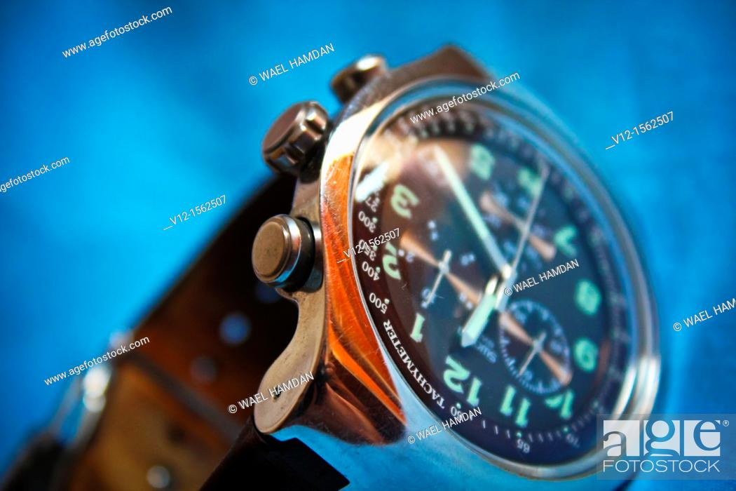 Stock Photo: new style Wristwatch.