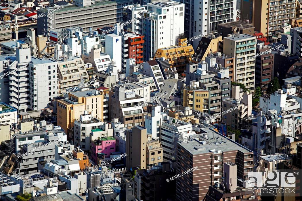 Stock Photo: Roppongi from Roppongi Hills bulding, Tokyo, Japan.