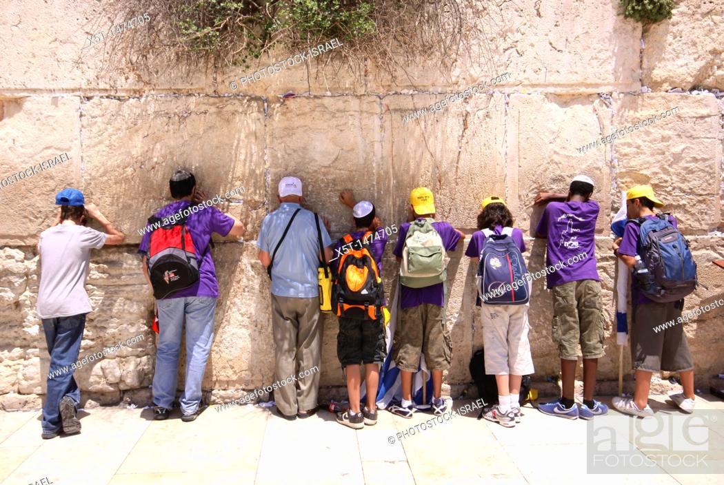 Stock Photo: Israel, Jerusalem, Old City, The Wailing Wall.