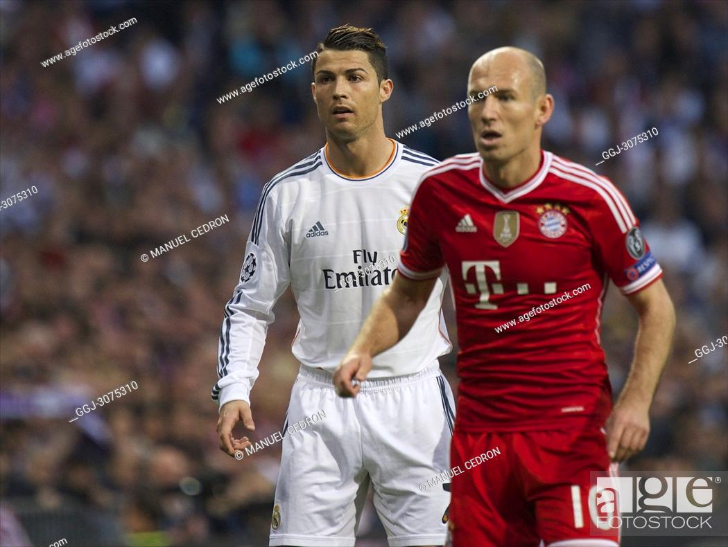 uk availability e37df f296e Robben and Cristiano Ronaldo in action during the UEFA ...
