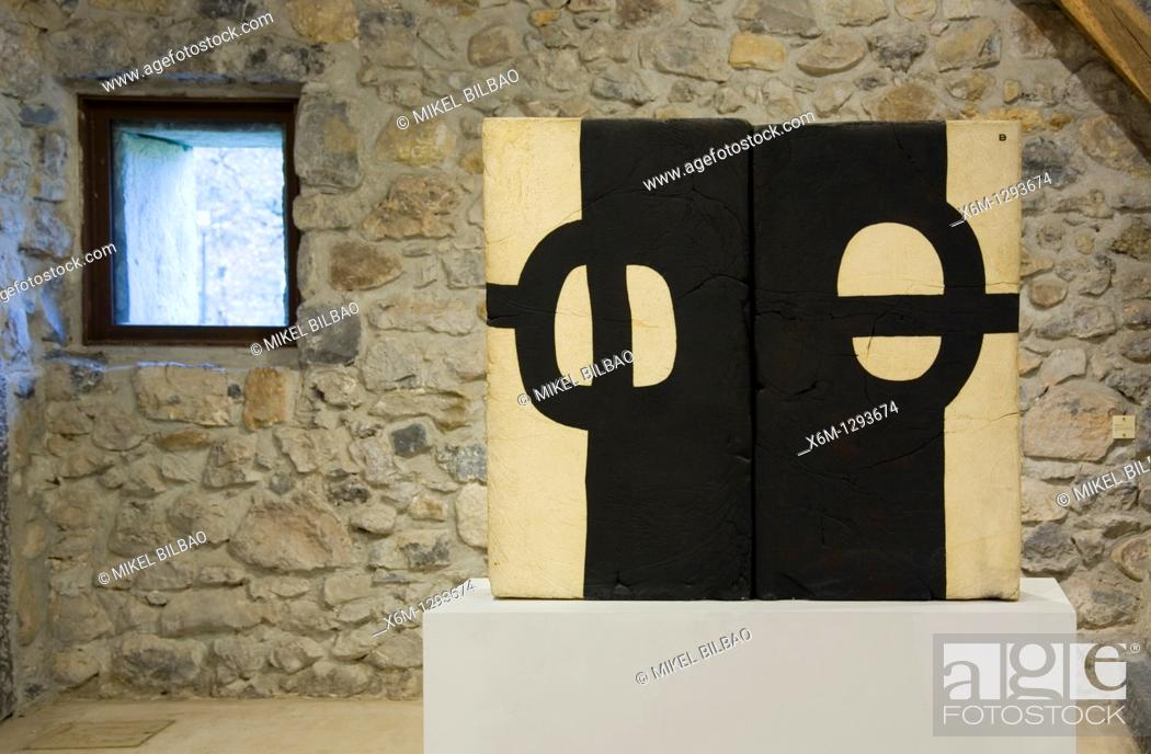 Stock Photo: works in the Zabalaga country house  Chillida Leku Museum  Hernani, Guipuzkoa, Basque Country, Spain.