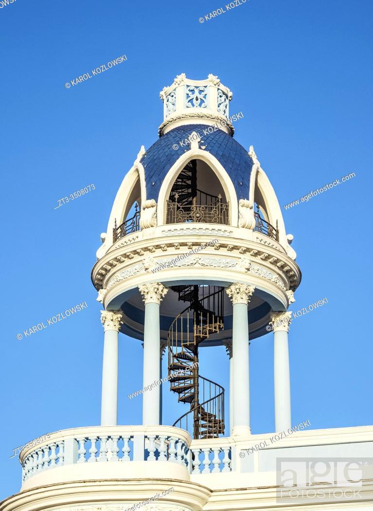Stock Photo: Ferrer Palace, detailed view, Cienfuegos, Cienfuegos Province, Cuba.