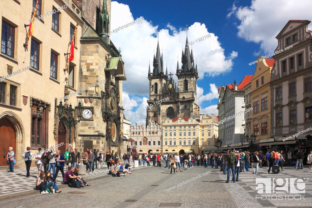 Stock Photo: Old Town Square, Prague, Czech Republic.