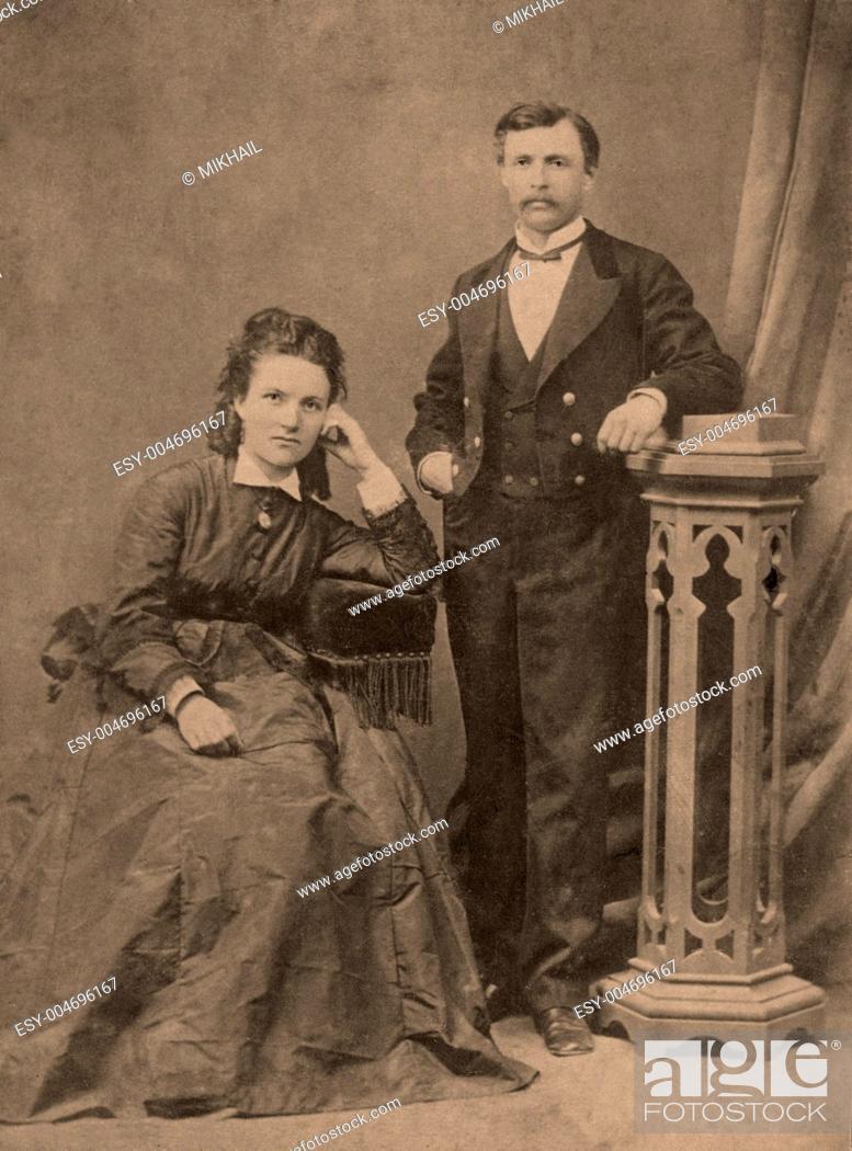 Stock Photo: Vintage portrait.