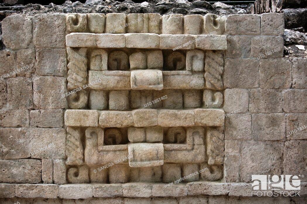Stock Photo: Archeological site Balamku, Yucatan Peninsula, Campeche, Mexico.