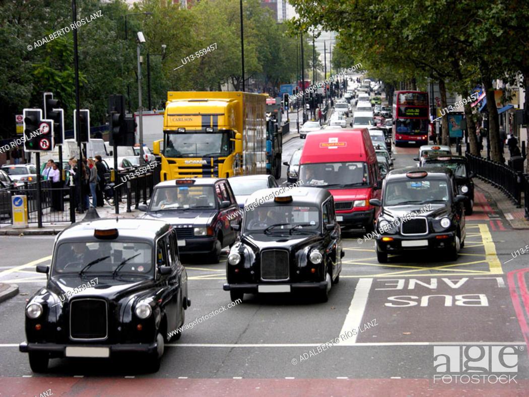 Stock Photo: Traffic, London, England.