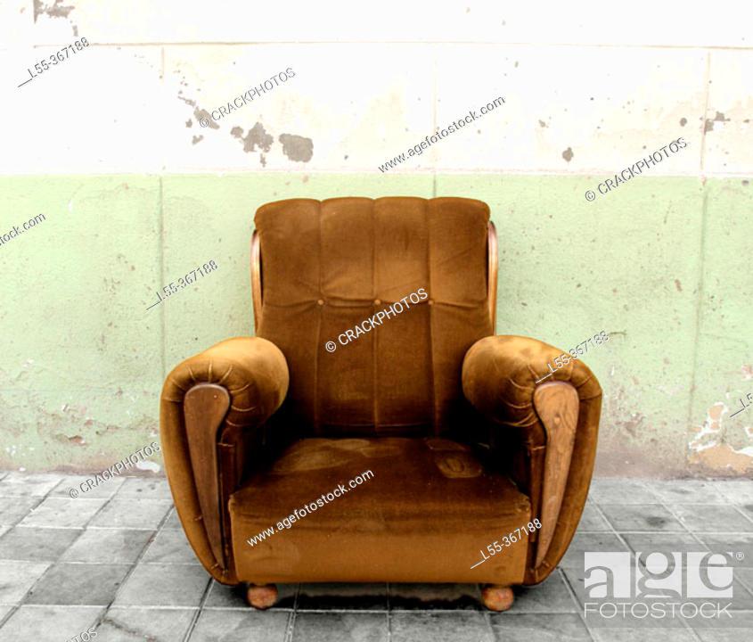 Stock Photo: Old sofa.