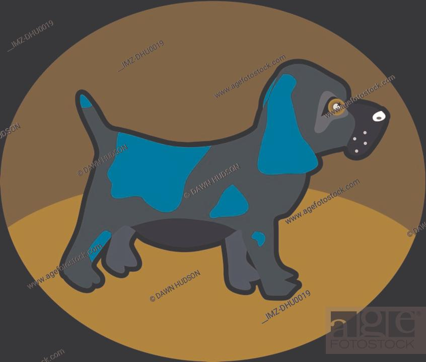 Stock Photo: Illustration of a little puppy.