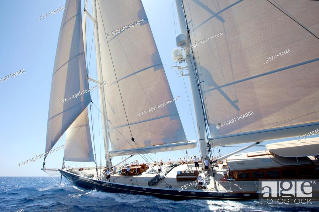 Stock Photo: Athos at the Superyacht Cup In Palma de Mallorca, Spain.