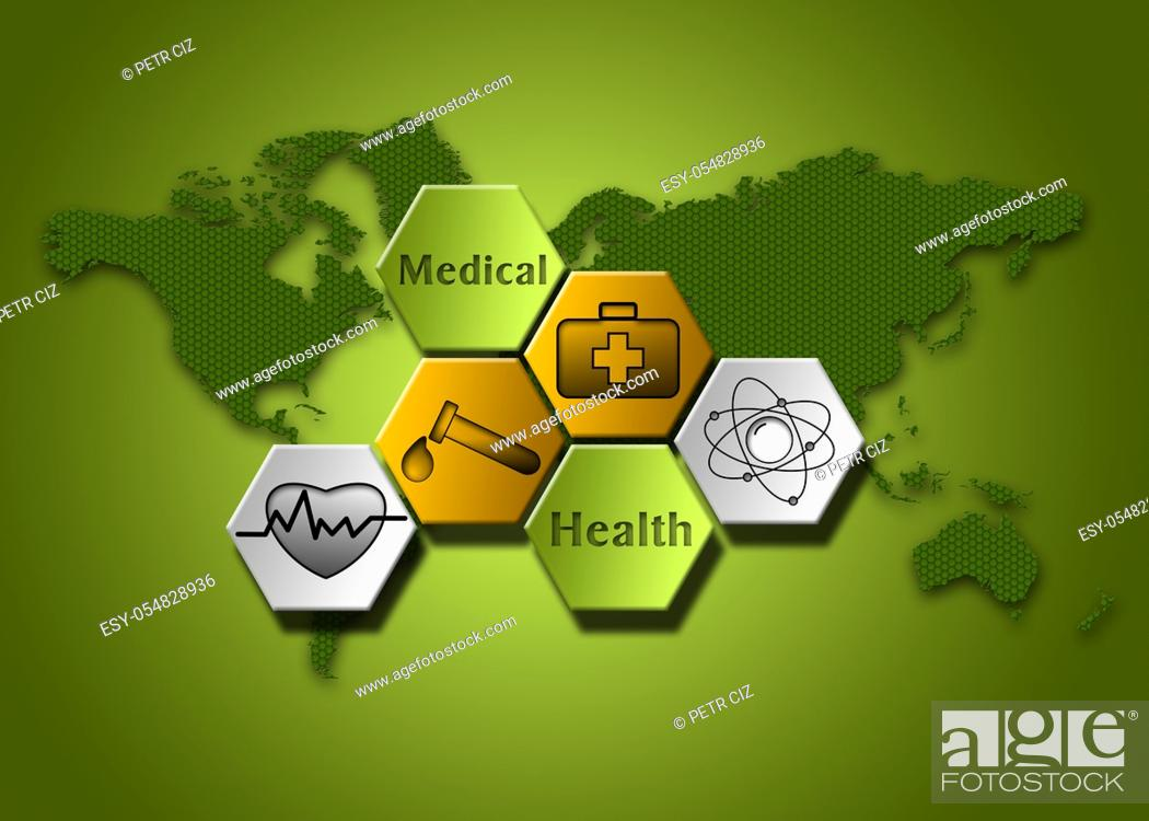 Stock Photo: Medical and health background.