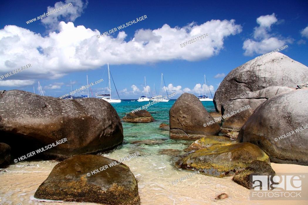 Stock Photo: Granite Beach.